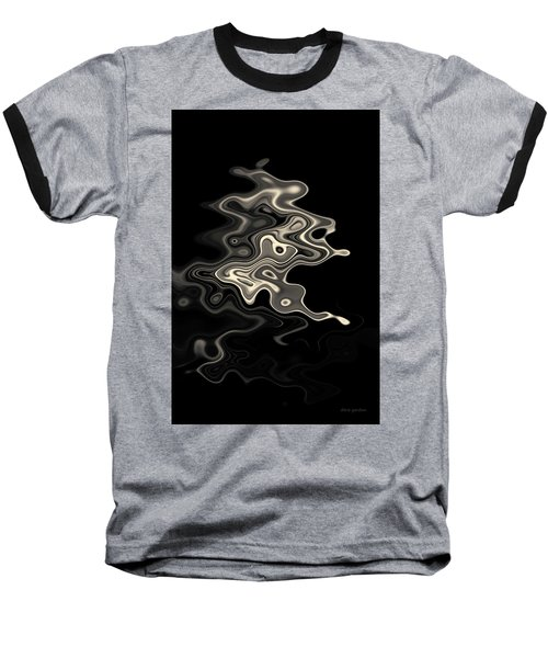 Abstract Swirl Monochrome Toned Baseball T-Shirt