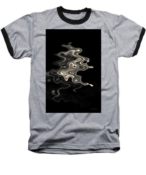 Abstract Swirl Monochrome Toned Baseball T-Shirt