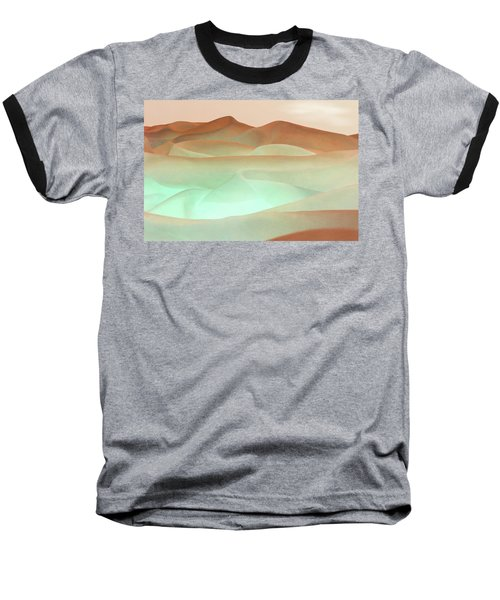Abstract Terracotta Landscape Baseball T-Shirt by Deborah Smith