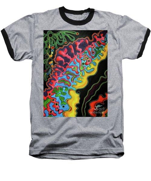Baseball T-Shirt featuring the painting Abstract Thought by Jolanta Anna Karolska