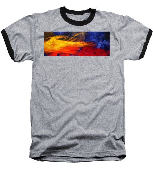 Abstract - Throw  Baseball T-Shirt