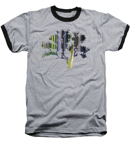 Abstract Tree Baseball T-Shirt