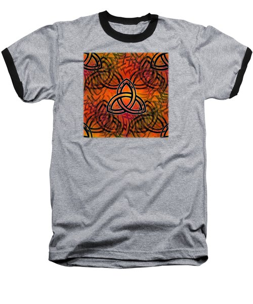 Baseball T-Shirt featuring the digital art Abstract - Trinity by Glenn McCarthy Art and Photography