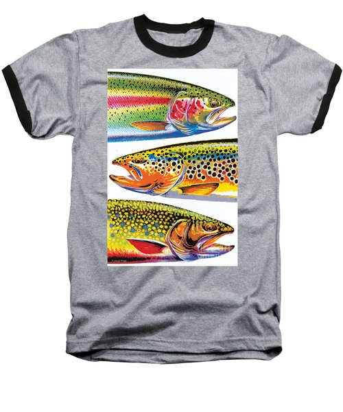 Abstract Trout Baseball T-Shirt