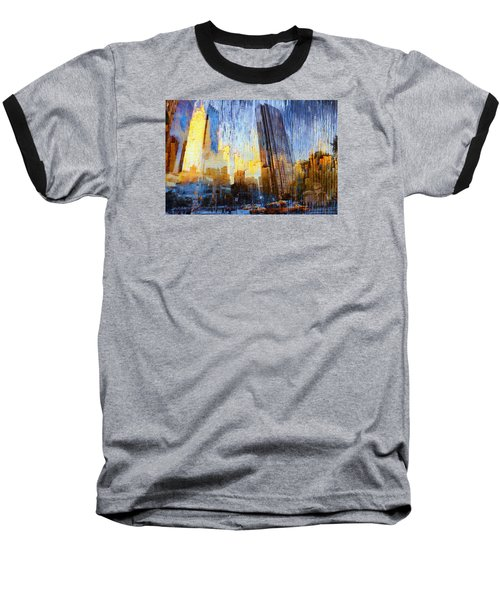 Abstract Vision Baseball T-Shirt by John Rivera