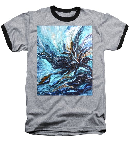 Abstract Water Dragon Baseball T-Shirt