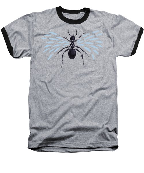 Abstract Winged Ant Baseball T-Shirt by Boriana Giormova