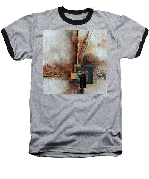 Baseball T-Shirt featuring the painting Abstract With Stud Edge by Joanne Smoley