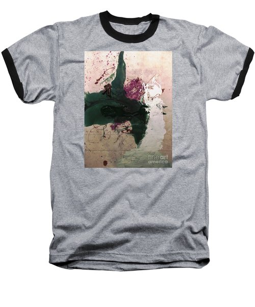 Abstraction White Red Green  Baseball T-Shirt