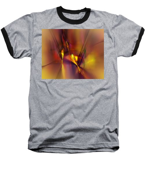 Abstracts Gold And Red 060512 Baseball T-Shirt