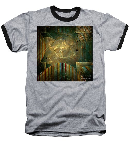Baseball T-Shirt featuring the painting Abstractus by Alexa Szlavics