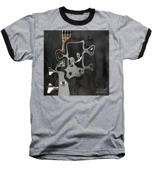 Baseball T-Shirt featuring the digital art Abstrait En Sol Majeur  by Variance Collections