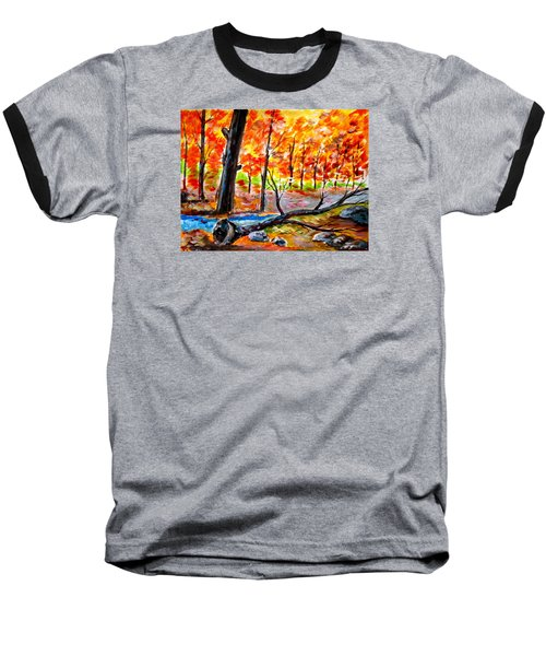 Fire In The Forest Baseball T-Shirt
