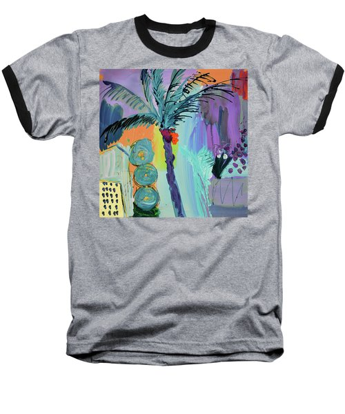 Abtract, Landscape With Palm Tree In California Baseball T-Shirt by Amara Dacer