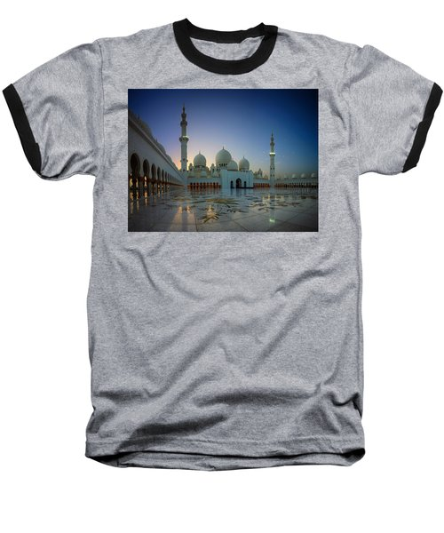 Abu Dhabi Grand Mosque Baseball T-Shirt