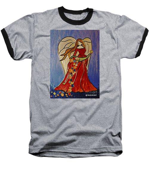 Abundance Angel Baseball T-Shirt by AmaS Art
