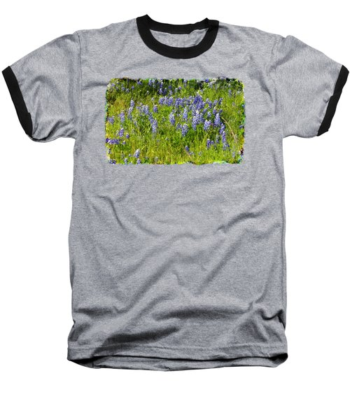 Abundance Of Blue Bonnets Baseball T-Shirt by Linda Phelps