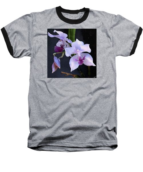 Baseball T-Shirt featuring the digital art Acacallis Cyanea. Orchid by Anthony Fishburne
