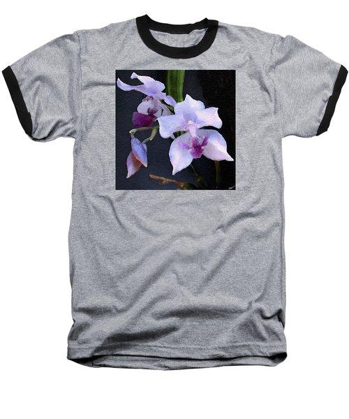 Acacallis Cyanea. Orchid Baseball T-Shirt