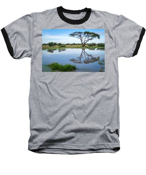 Acacia Tree Reflection Baseball T-Shirt