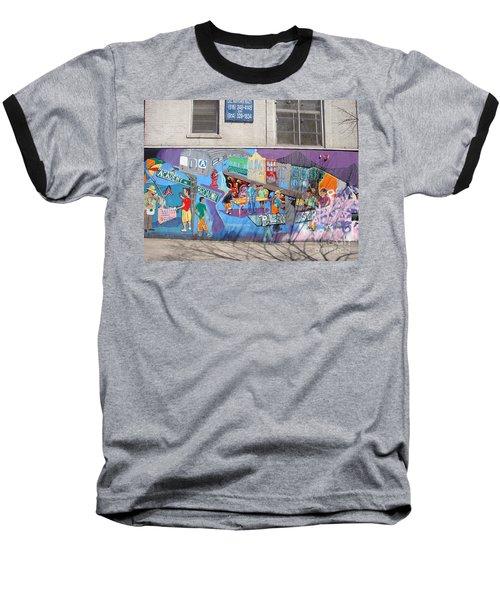 Academy Street Mural Baseball T-Shirt