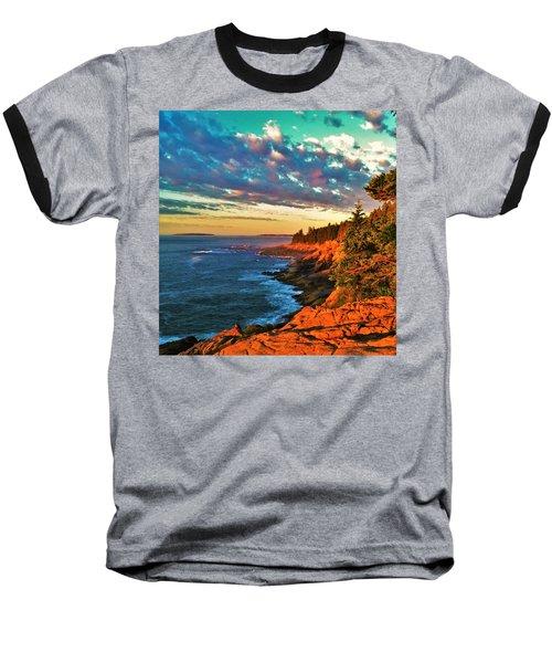 Acadia At Dawn Baseball T-Shirt