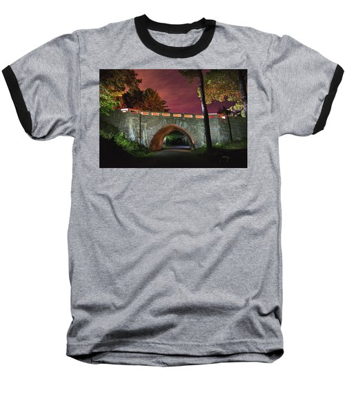 Acadia Carriage Bridge Under The Stars Baseball T-Shirt