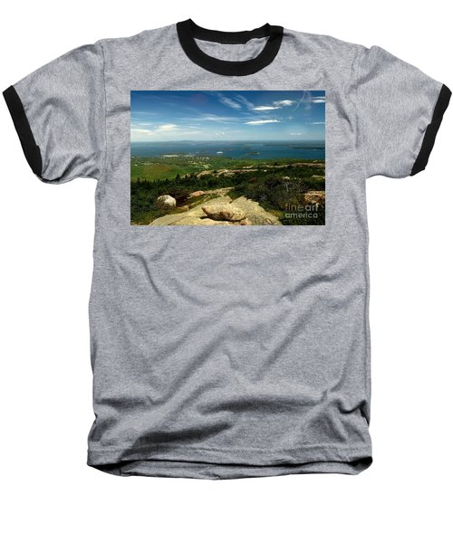 Baseball T-Shirt featuring the photograph Acadia by Raymond Earley