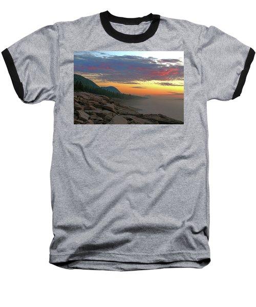 Acadia Sunrise  Baseball T-Shirt