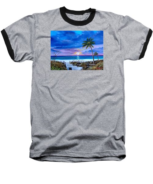 Access To The Beach Baseball T-Shirt by Lloyd Dobson