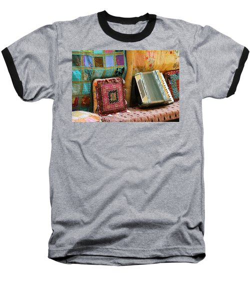 Accordion  With Colorful Pillows Baseball T-Shirt by Yoel Koskas