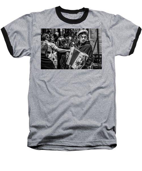 Accordion Player Baseball T-Shirt by Patrick Boening