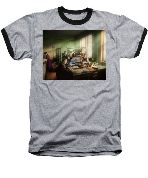 Baseball T-Shirt featuring the photograph Accountant - The- Bookkeeping Dept 1902 by Mike Savad