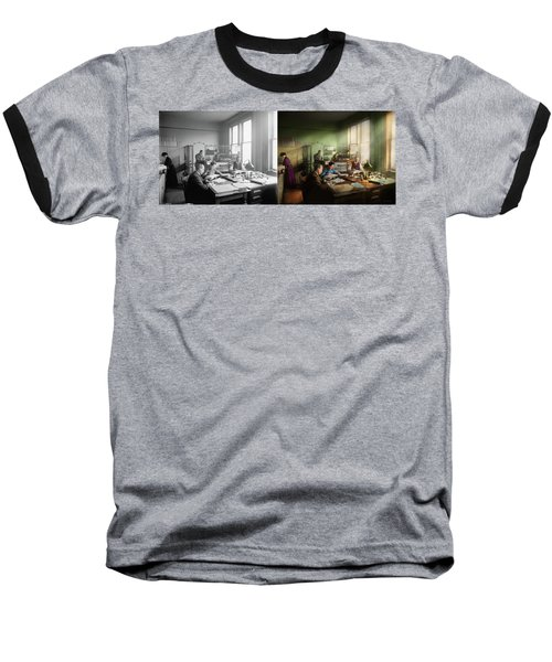 Baseball T-Shirt featuring the photograph Accountant - The- Bookkeeping Dept 1902 - Side By Side by Mike Savad