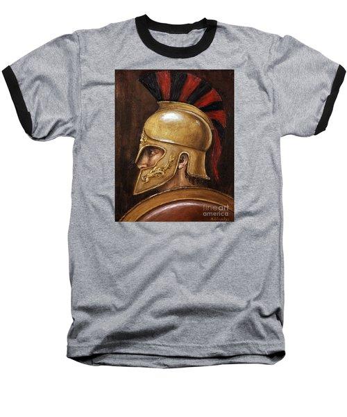 Achilles Baseball T-Shirt by Arturas Slapsys