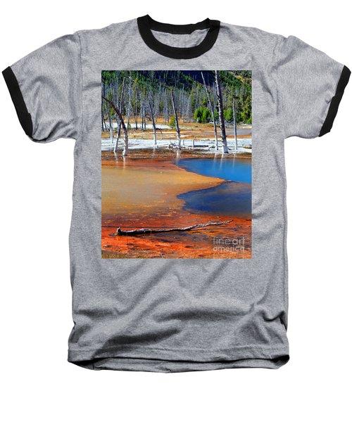 Acid Soup Yellowstone Baseball T-Shirt by Diane E Berry