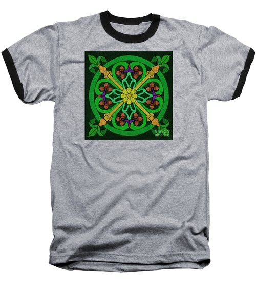Acorn On Dark Green Baseball T-Shirt by Curtis Koontz