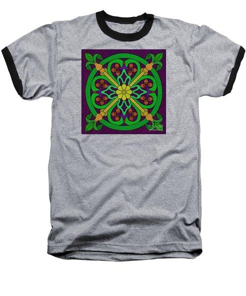 Acorn On Dark Purple 2 Baseball T-Shirt by Curtis Koontz