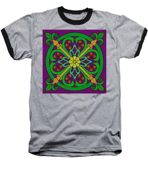 Acorn On Dark Purple Baseball T-Shirt by Curtis Koontz