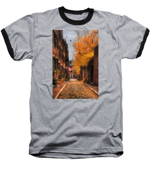 Acorn St. Baseball T-Shirt by Joann Vitali