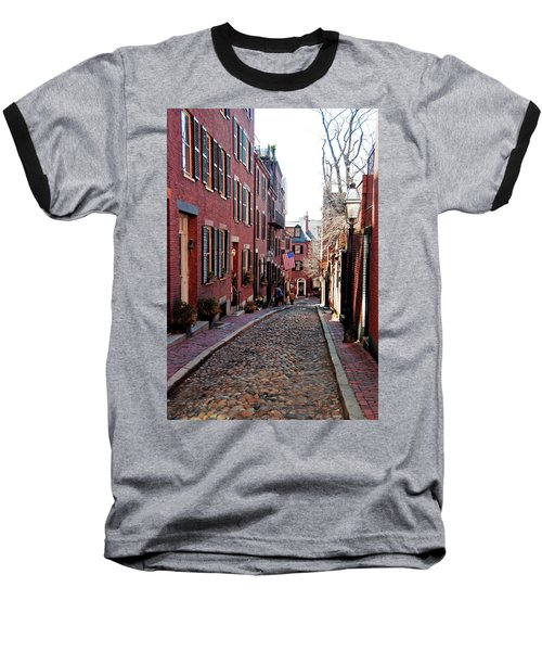 Acorn Street Beacon Hill Baseball T-Shirt
