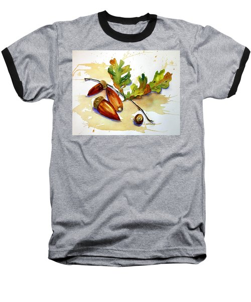 Acorns And Leaves Baseball T-Shirt