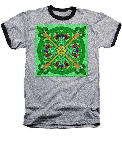 Acorns On Light Green Baseball T-Shirt by Curtis Koontz