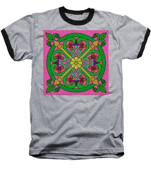 Acorns On Pink Baseball T-Shirt by Curtis Koontz