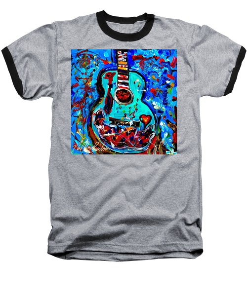 Acoustic Love Guitar Baseball T-Shirt