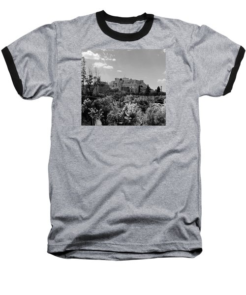 Baseball T-Shirt featuring the photograph Acropolis Black And White by Robert Moss