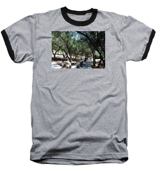 Baseball T-Shirt featuring the photograph Acropolis Trail by Robert Moss