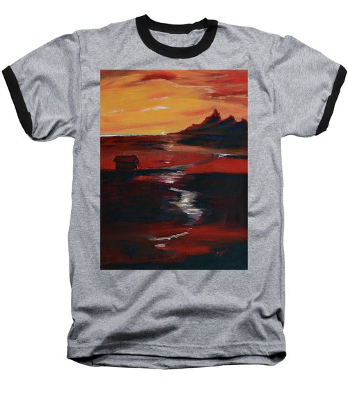 Across Amber Fields To The Sea Baseball T-Shirt by Donna Blackhall