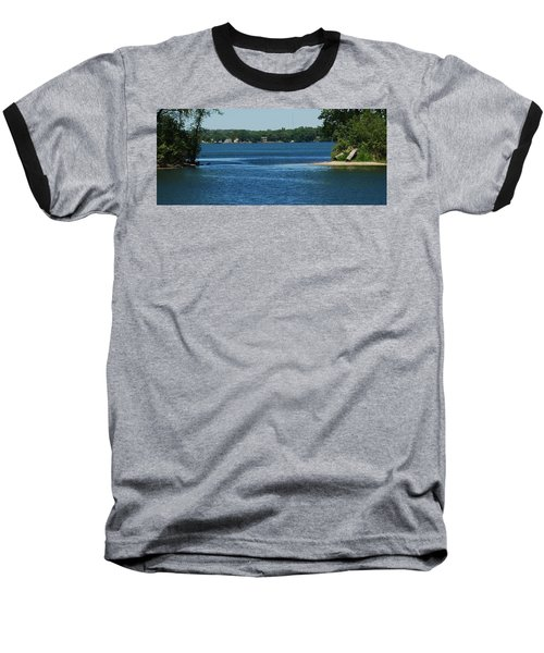 Baseball T-Shirt featuring the photograph Across The Bay by Ramona Whiteaker