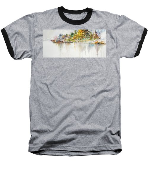 Across The Pond Baseball T-Shirt by P Anthony Visco